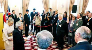 Chairman of IAFOR IAB Attends Reception at the Japanese Embassy in London Hosted by Emperor Akihito of Japan